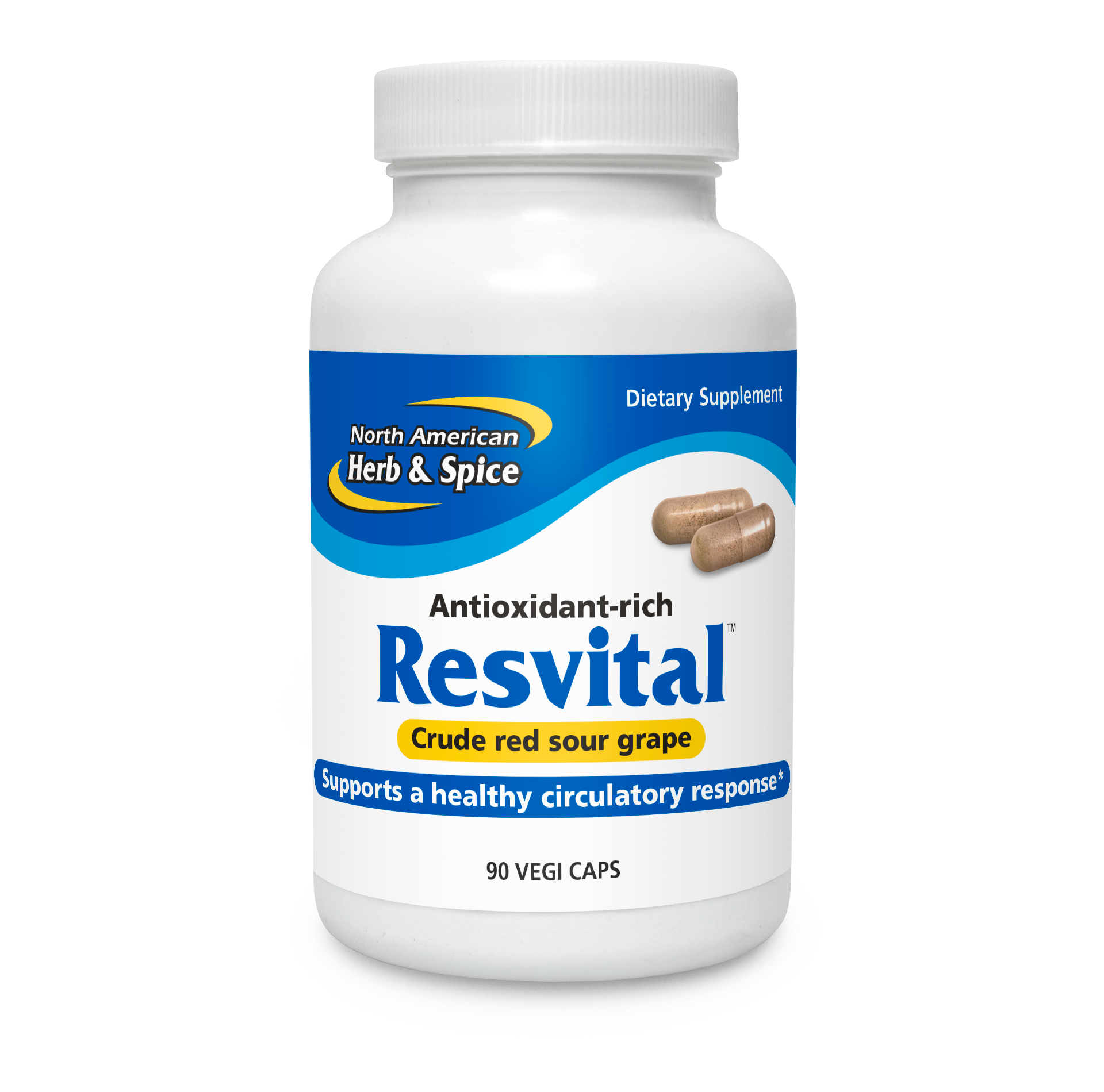 Resvital capsules front label